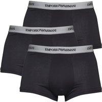 Emporio Armani Mens Three Pack Trunks Black/Grey