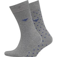 Emporio Armani Mens Two Pack Socks Grey