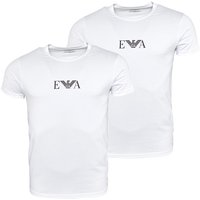 Emporio Armani Mens Two Pack T-Shirt White
