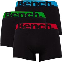 Bench Mens Three Pack Boxers Black