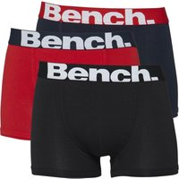 Bench Mens Three Pack Trunks Black/red/navy