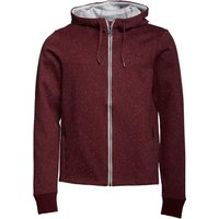 Bench Mens Bonded Nap Knitted Hoody Burgundy