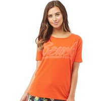 Bench Womens Bench Oversized Graphic T-Shirt Orange