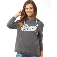 Bench Womens Bench Slogan Hoody Grey