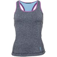 ELLE SPORT Womens Marl Performance Support Vest Smoke Marl