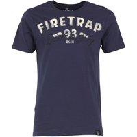 Firetrap Mens Biker T-Shirt Indigo