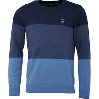 Firetrap Mens Colour Block Crew Knit Indigo/Coronet Blue