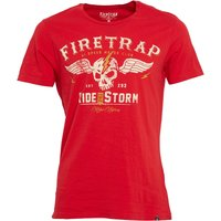 Firetrap Mens Highway T-Shirt True Red