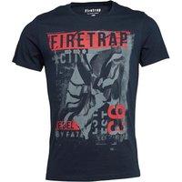 Firetrap Mens Frey T-Shirt Carbon
