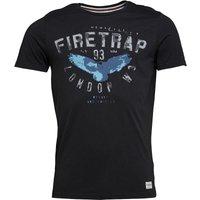 Firetrap Mens Hans T-Shirt Jet Black