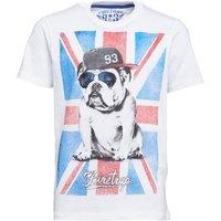 Firetrap Junior Boys Flag Bulldog T-Shirt Bright White
