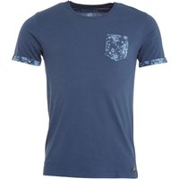 Firetrap Mens Jackson T-Shirt Dark Denim