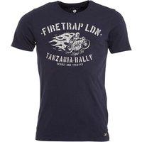 Firetrap Mens Leo T-Shirt Indigo