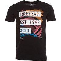 Firetrap Mens Edvin T-Shirt Jet Black