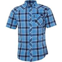Firetrap Mens Melker Short Sleeve Check Shirt Candre Blue