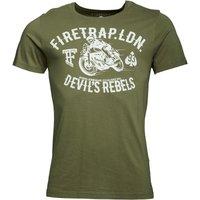 Firetrap Mens Rebel T-Shirt Milli Khaki