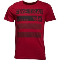 Firetrap Mens Jorge T-Shirt Blood Red