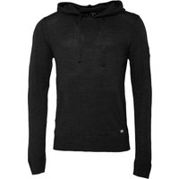 Firetrap Mens Kochy Hooded Knit Charcoal Marl