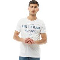 Firetrap Mens Theo Graphic T-Shirt Optic White