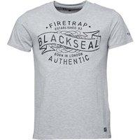 Firetrap Mens Cypher T-Shirt Grey Marl