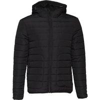 Fluid Mens Hooded Padded Jacket Black