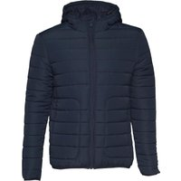 Fluid Mens Hooded Padded Jacket Navy