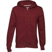 Fluid Mens Zip Through Fleece Hoody Claret