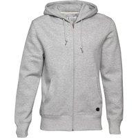 Fluid Mens Zip Through Fleece Hoody Grey Marl