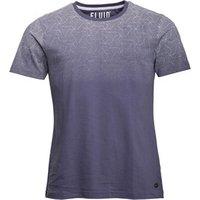 Fluid Mens Gradient Print T-Shirt Vintage Indigo