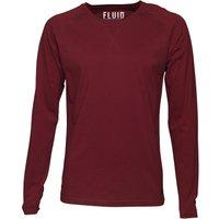 Fluid Mens Long Sleeve Jersey Top Claret