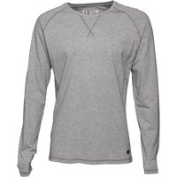Fluid Mens Long Sleeve Jersey Top Grey Marl
