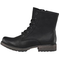 Fluid Womens Lace Up Boots Black