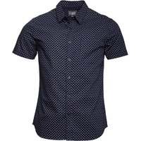 Fluid Mens AOP Short Sleeve Shirt Navy