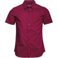 Fluid Mens AOP Short Sleeve Shirt Claret