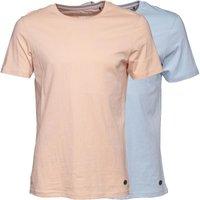 Fluid Mens Two Pack Plain T-Shirt Pale Blue/Pale Pink