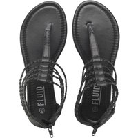 Fluid Womens Plaited Strap Gladiator Sandals Black