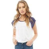 Fluid Womens Raglan Sleeve T-Shirt White/Summer Navy