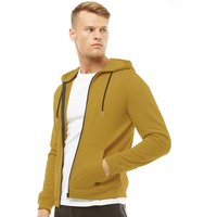 Fluid Mens Zip Through Fleece Hoody Mustard