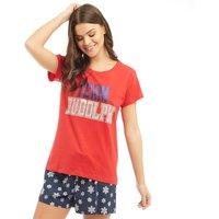 Fluid Womens Novelty Nightwear Set Red/Navy/Silver