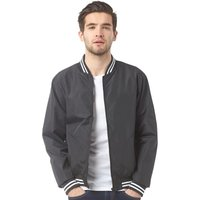 Fluid Mens Bomber Jacket Black
