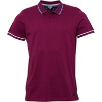 Fluid Mens Plain Jersey Polo Cassis