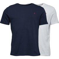 Farah Mens Dornoch Two Pack Lounge T-Shirts Navy/White