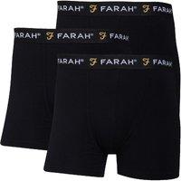 Farah Mens Saginaw Three Pack Boxers Black