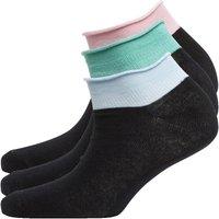 Fruitcake Womens Three Pack Trainer Liner Socks Black
