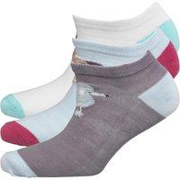 Fruitcake Womens Dog Print Trainer Liner Socks Purple