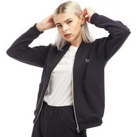 Fred Perry Womens Reverse Tricot Track Jacket Navy