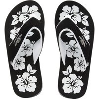 Board Angels Womens EVA Toe Post Sandals Black/White