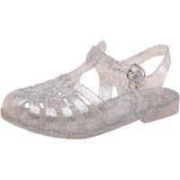 Board Angels Girls Fisherman Jelly Sandals Silver Glitter