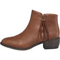 Board Angels Womens Zip Trim Boots Tan