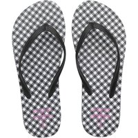 Board Angels Womens Flip Flops Black/White